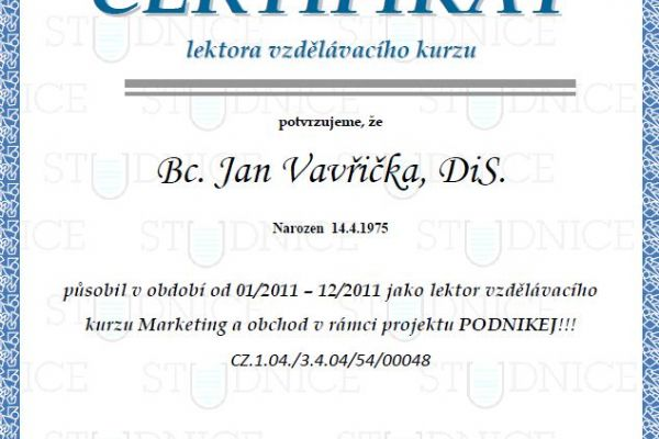Lektor marketingu 2011
