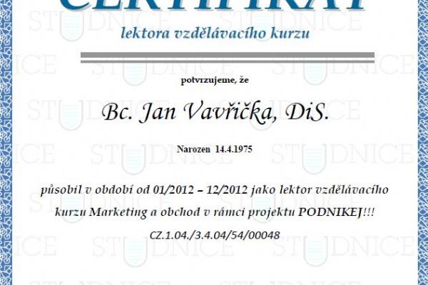 Lektor marketingu 2012